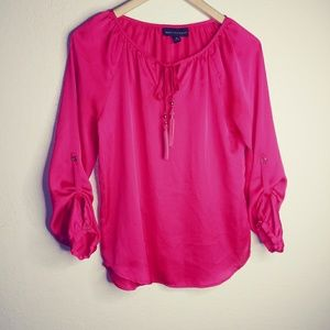 Dana buchman pink blouse size x-small